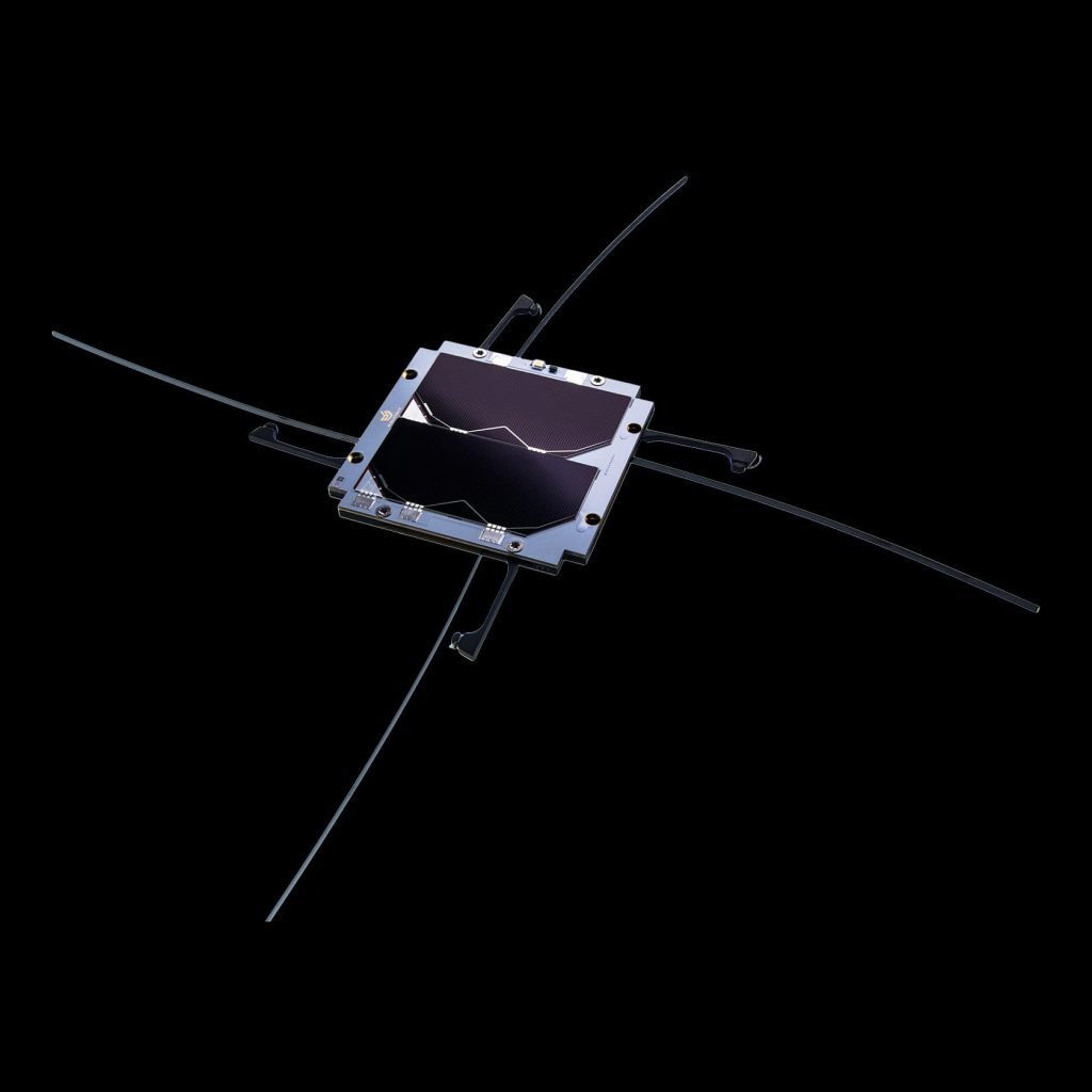 cubesat-uhf-antenna with solar panel endurosat