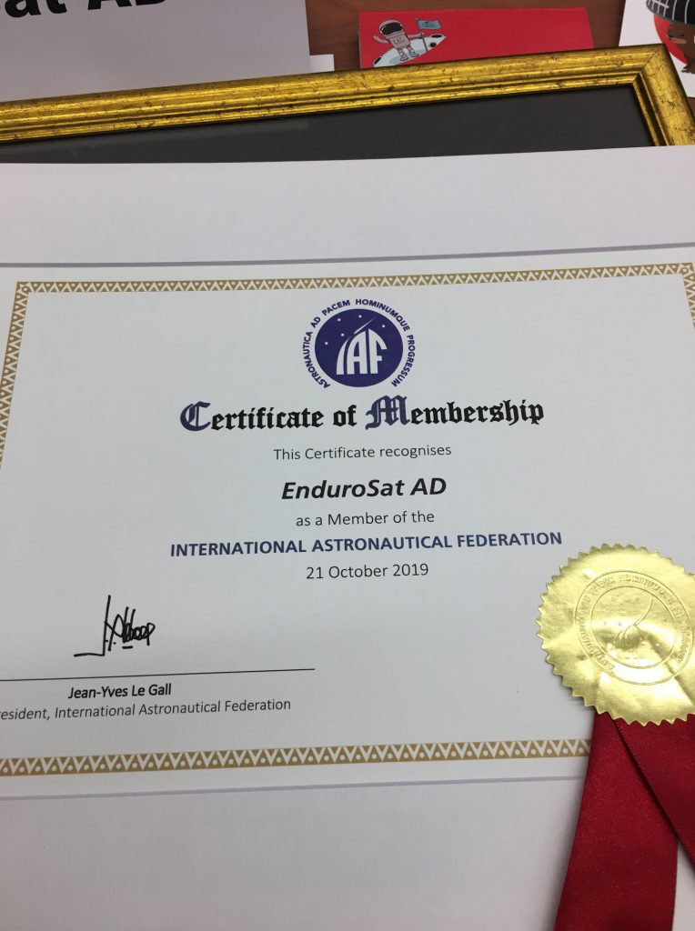 EnduroSat is now a member of the International Astronautical Federation-IAF
