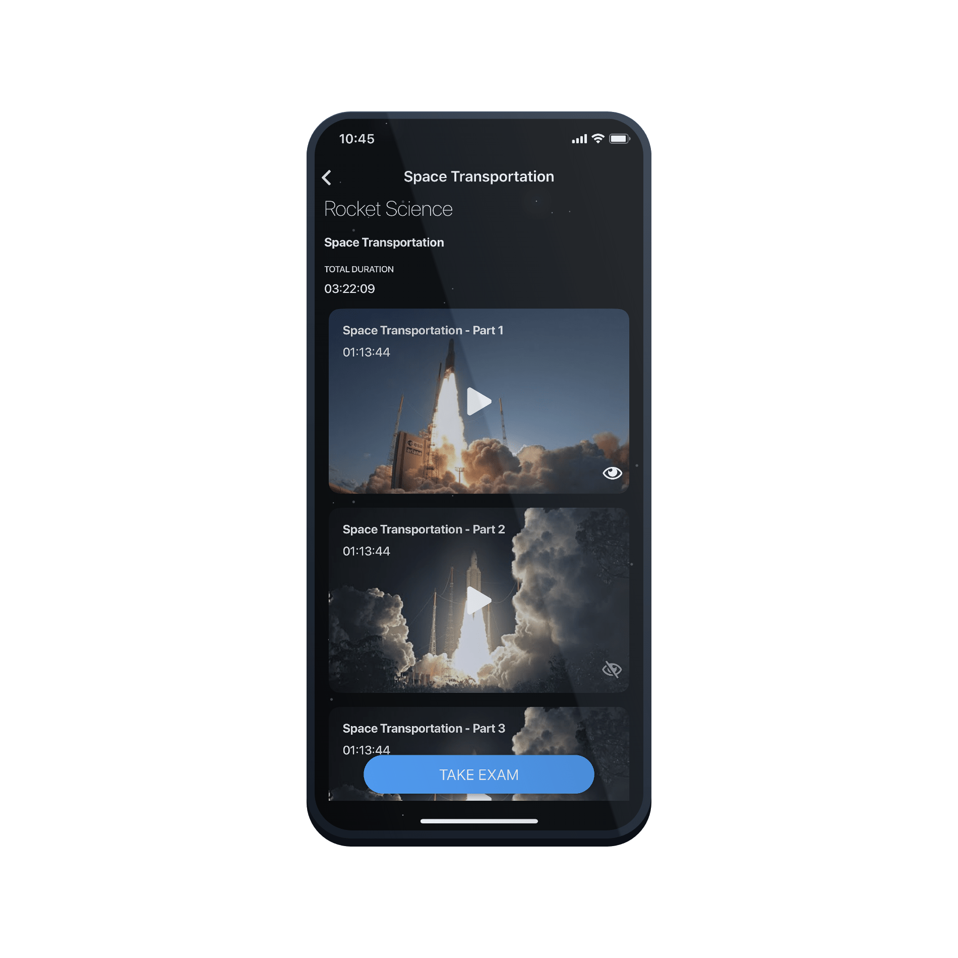 spaceport ios app screenshot